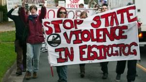 Elsipogtog solidarity demonstrations in Halifax