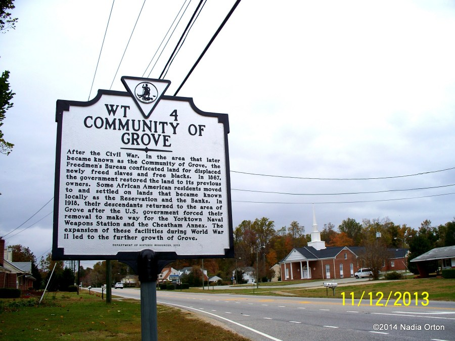 Community of Grove Marker Nadia Orton 2013