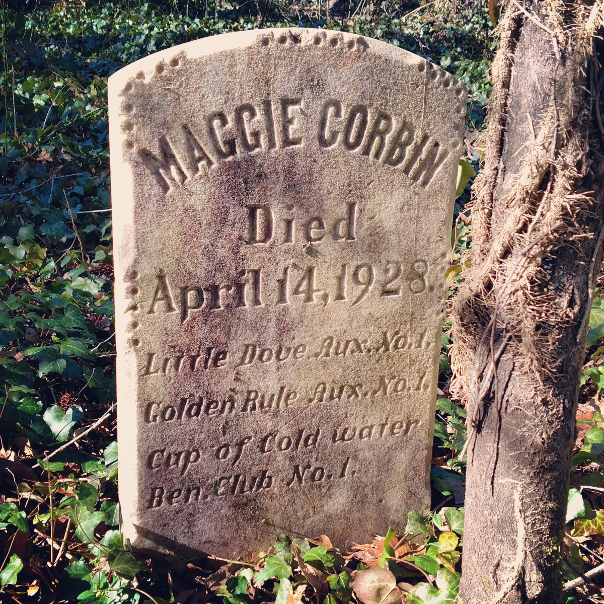 Richmond, Virginia: The gravestone of Maggie Corbin, Evergreen Cemetery