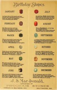 Birthstones from Days Gone By