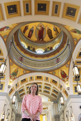 Lisa Morris, President – in the Cathedral of the Most Sacred Heart of Jesus, Knoxville, Tennessee