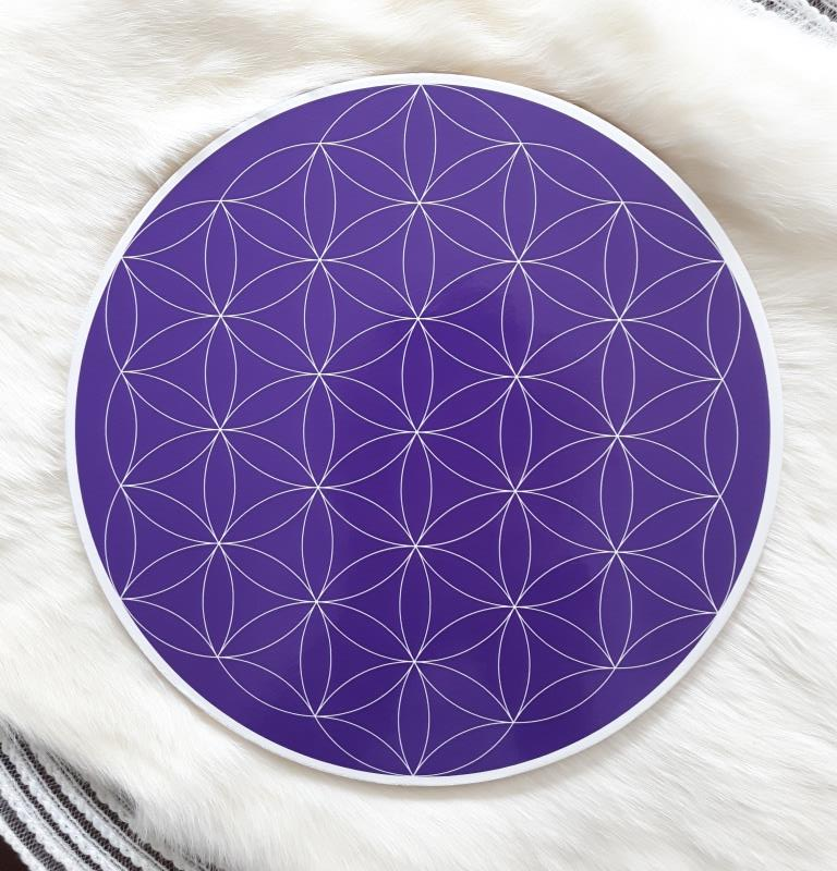 Brow Chakra Flower of Life Crystal Grid