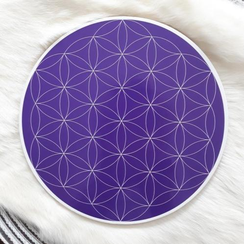 Brow Chakra Flower of Life Crystal Grid