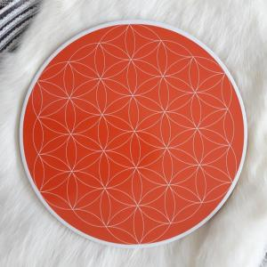 Sacral Chakra Flower of Life Crystal Grid