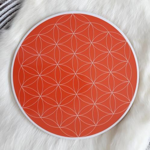 Sacral Chakra Flower of Life Crystal Grid