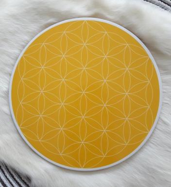 Solar Plexus Flower of Life Crystal Grid