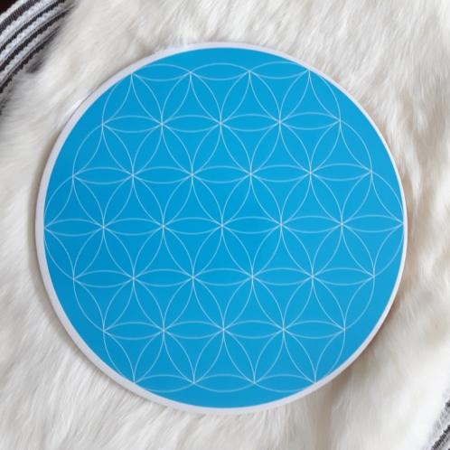 Throat Chakra Flower of life Crystal Grid