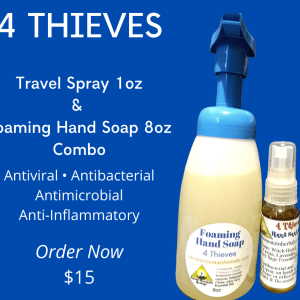 4Thieves Natural Antibacterial Antiviral Spray & Soap Combo