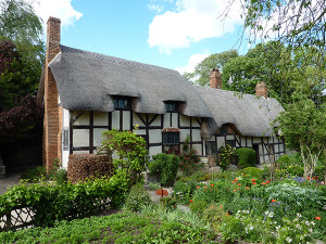 Anne Hathaway's Cottage in Stratford-upon-Avon in England, UK