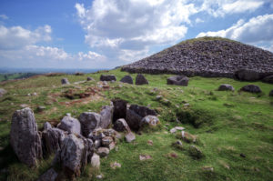 Cairns at Loughcrew Passage Tomb Site in Ireland