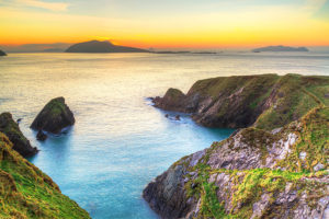 Sunset Over Dunquin Bay on Dingle Peninsula in Ireland