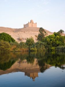 The Agha Khan Mausoleum Reflected in the Nile River