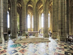 Sacred Tour of France - Interior of Mont Saint-Michel Abbey