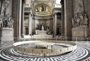 Sacred Tour of France - Interior of the Pantheon showing Foucalt's Pendulum
