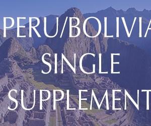 Peru & Bolivia Single Supplement