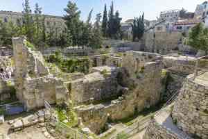 Excavated Ruins of the Pool of Bethesda, Israel