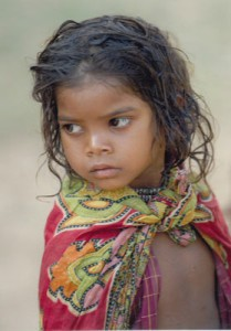 baiga tribe little girl
