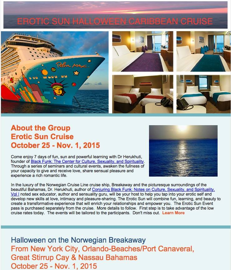 Erotic Sun Group Caribbean Cruise – Oct 25 – Nov 1 NYC to The Bahamas