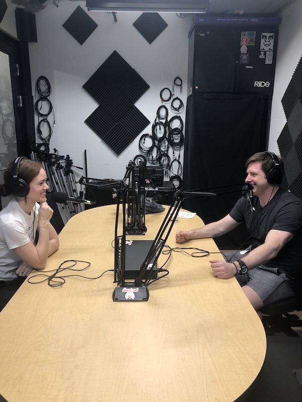 podcast recording studio dr. ariele foster and chris parkinson
