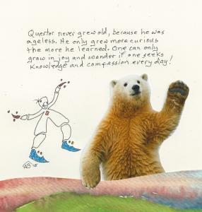 Questor bear waving A149