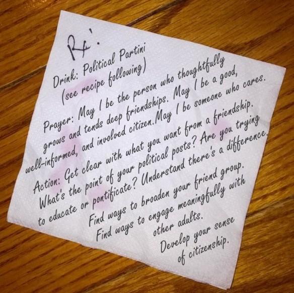 bnp facebook napkin