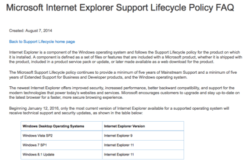 develop or drop IE Internet Explorer