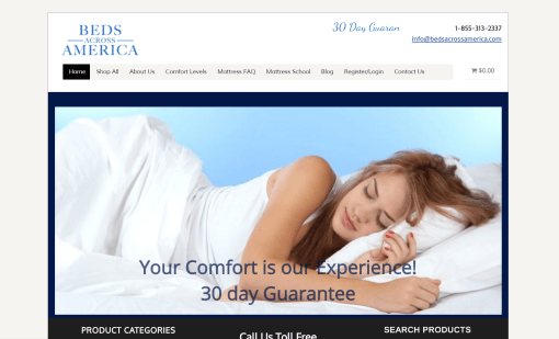 Beds Across America eCommerce