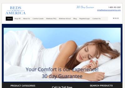 Beds Across America eCommerce