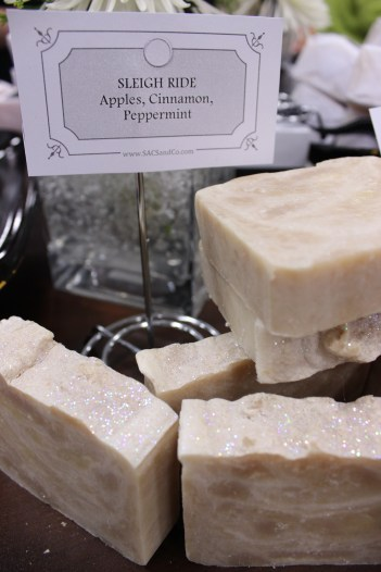 Sleigh Ride soap is available at the shop through the holiday season!