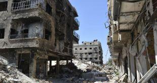 الدمار في مخيم اليرموك - AFP