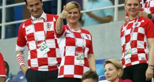 رئيسة كرواتيا في المدرجات - انترنت