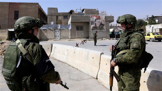 قوات روسية على مشارف الغوطة AFP