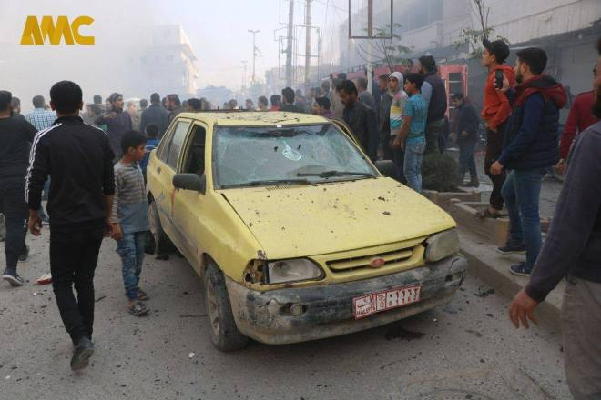 ستون قتيلاً وجريحًا بانفجار سيارة مفخّخة في الباب بريف حلب