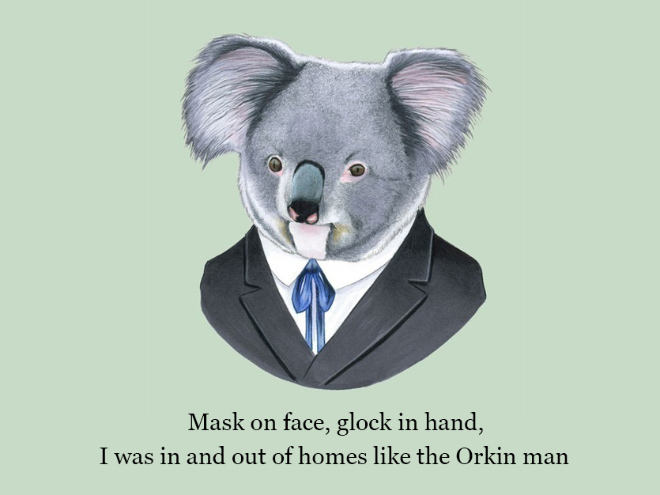 Animal Wallpaper For Home Well Dressed Animals With Rap Quotes