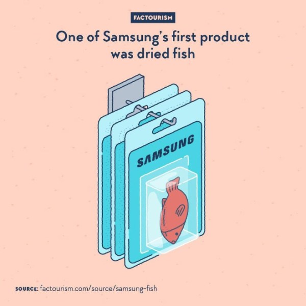 From 1938, when it was founded by Byung-Chull Lee in Taegu, Korea, to 1969, when it started making TV sets, the Samsung company was not dealing with electronics. Instead, it started as a food exporter, shipping products such as dried fish and flour to China, then tried out other activities like life insurance and textiles.