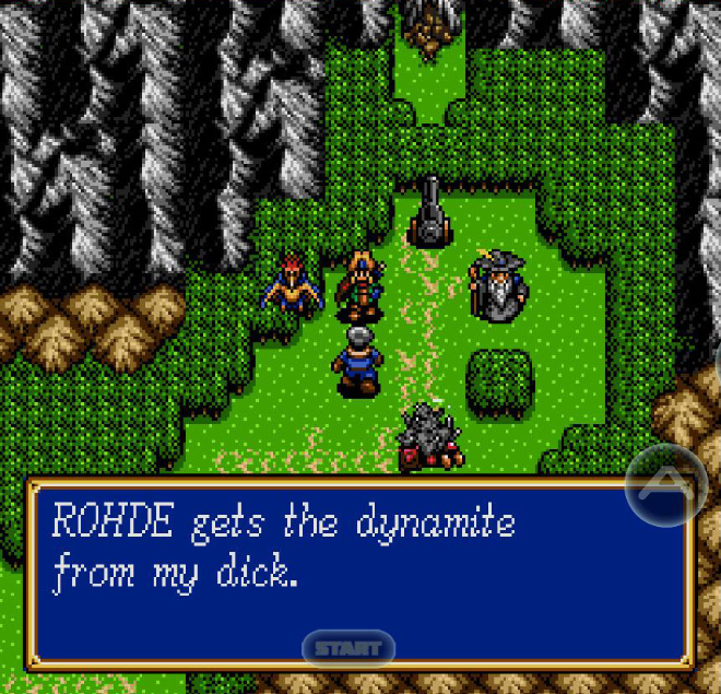 """When you choose """"my dick"""" as the main character name in a retro RPG..."""
