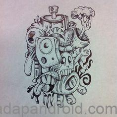 50 Kumpulan Gambar DP BBM Grafiti Monster Sketch Keren