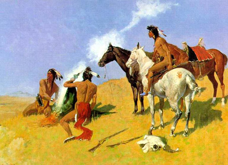 Frederic Remington's Painting of Smoke Signals