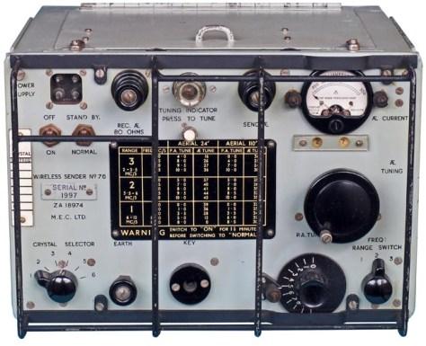 Wireless Sender No. 76 developed in 1943