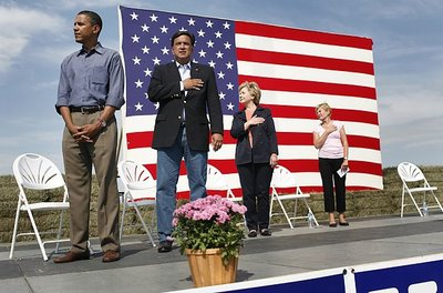 Why doesn't Obama put his hand on his heart for the National Anthem? Is is a Black Power statement?