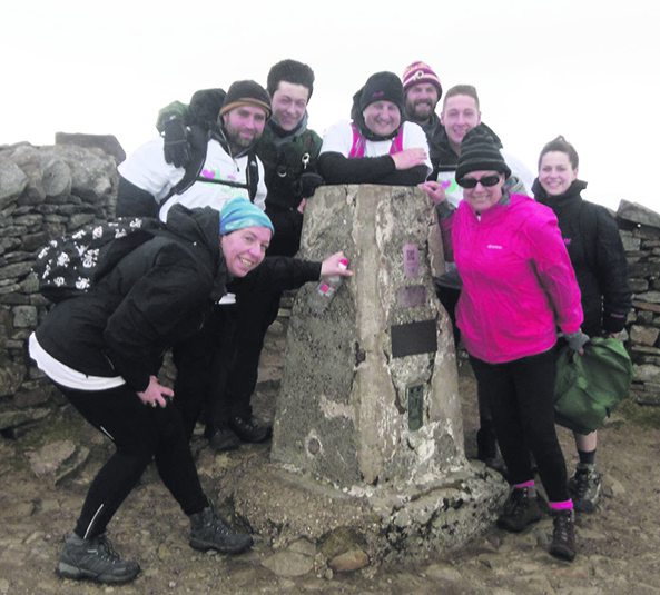 Daring fundraisers tackle three peaks hike challenge for for Charity motors 8 mile lahser