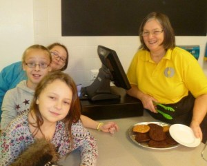 Cookie Queen: Ingrid shows off some of her creations to hungry kids