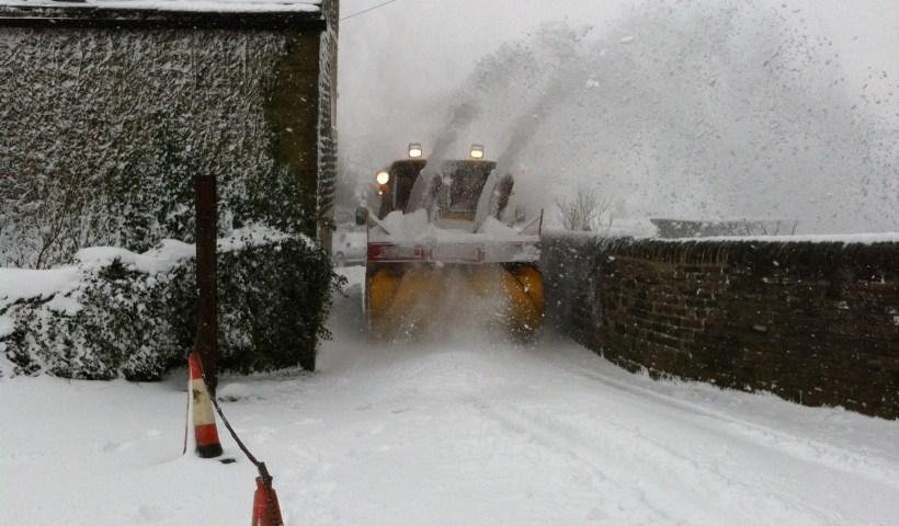 Heights snow blower