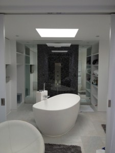 LUXURY: Oldfield is working on two bathroom projects