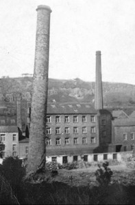 DESTROYED: Demolition of Buckley Old Mill chimney after fire in 1940s