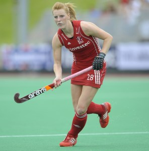 Great Britain's Nicola White during the 5th/6th playoff against Ireland in the Investec London Cup in London