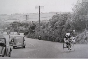CYCLISTS: Arnold on the way to John O'Groats with Albert Crimes