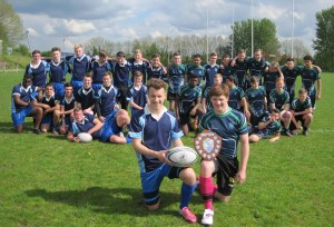 CHAMPIONS: Saddleworth Schools under 16s rugby side