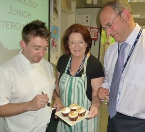 FAB FARE: The judges sample one of the creations