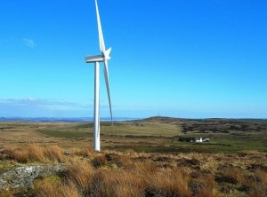 SMALL-SCALE: Similar turbines in the Scottish countryside. PICTURE: Mary and Angus Hogg